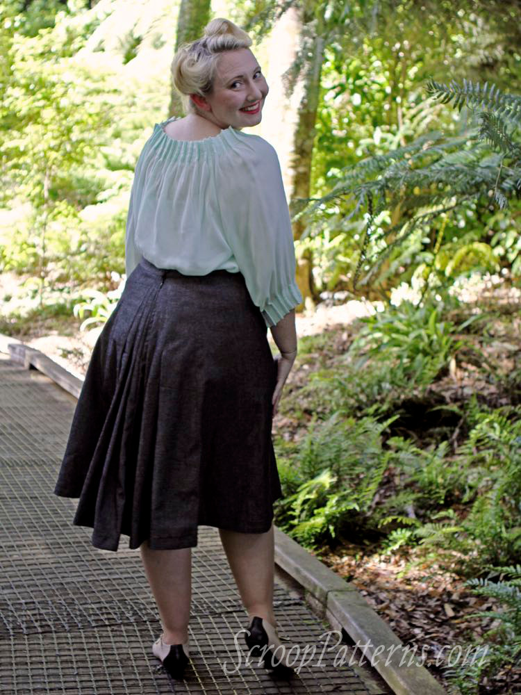 Scroop Patterns Fantail Historical Skirt thedreamstress.com