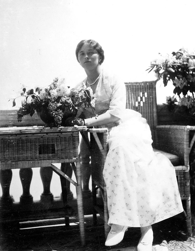 Grand Duchess Olga Nikolaevna of Russia in Livadia, Crimea