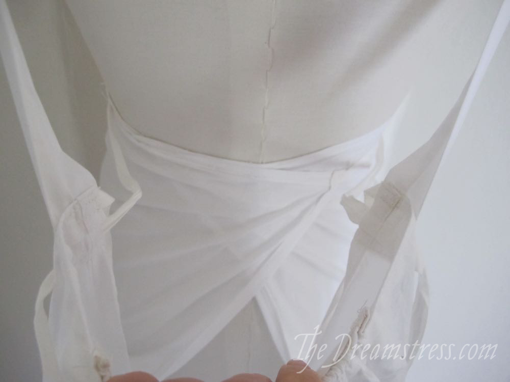 A plausible but far from perfect Regency wrap petticoat, thedreamstress.com