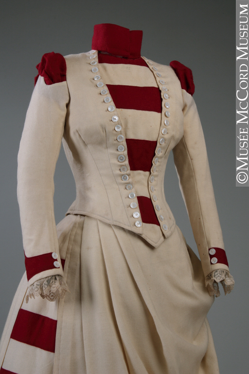 Day ensemble, J. J. Milloy, 1887, Wool, M2009.62.1.1-2, © McCord Museum