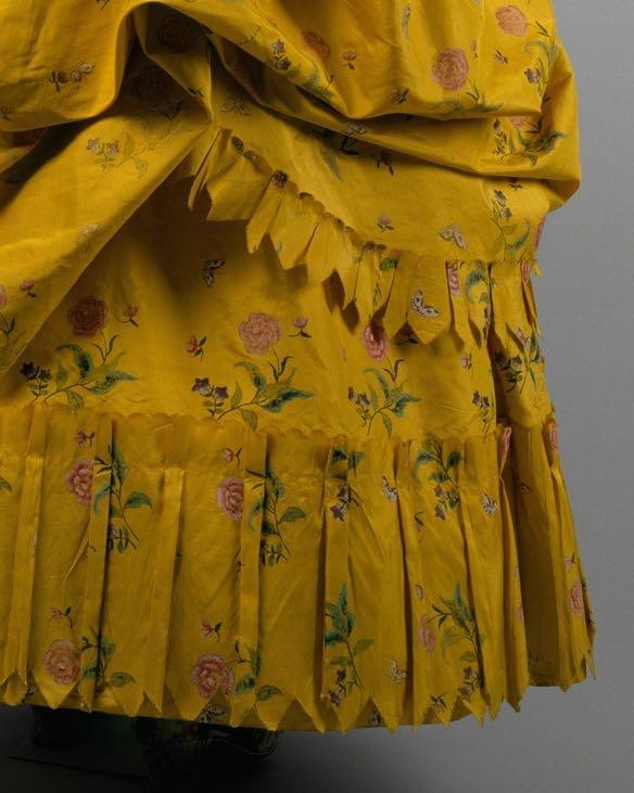 Robe à la Polonaise, 1780–85, American, silk, Metropolitan Museum of Art, 1970.87a, b