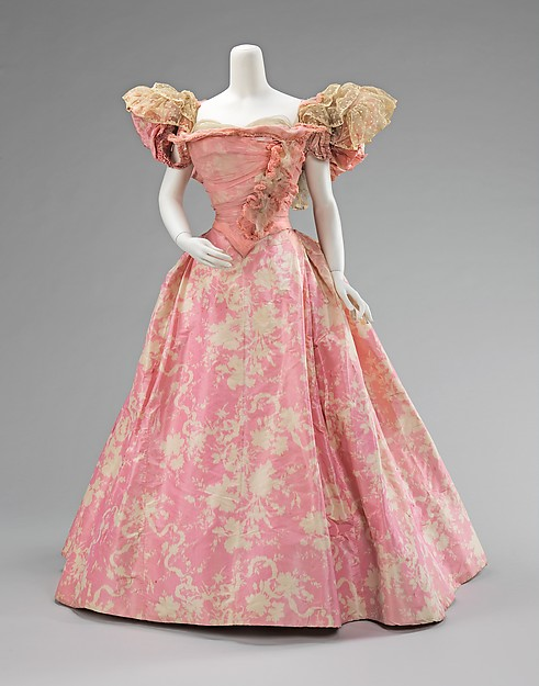 Ball gown, House of Paquin (French 1891 1956), 1895-silk, 2009.300.2115a-b