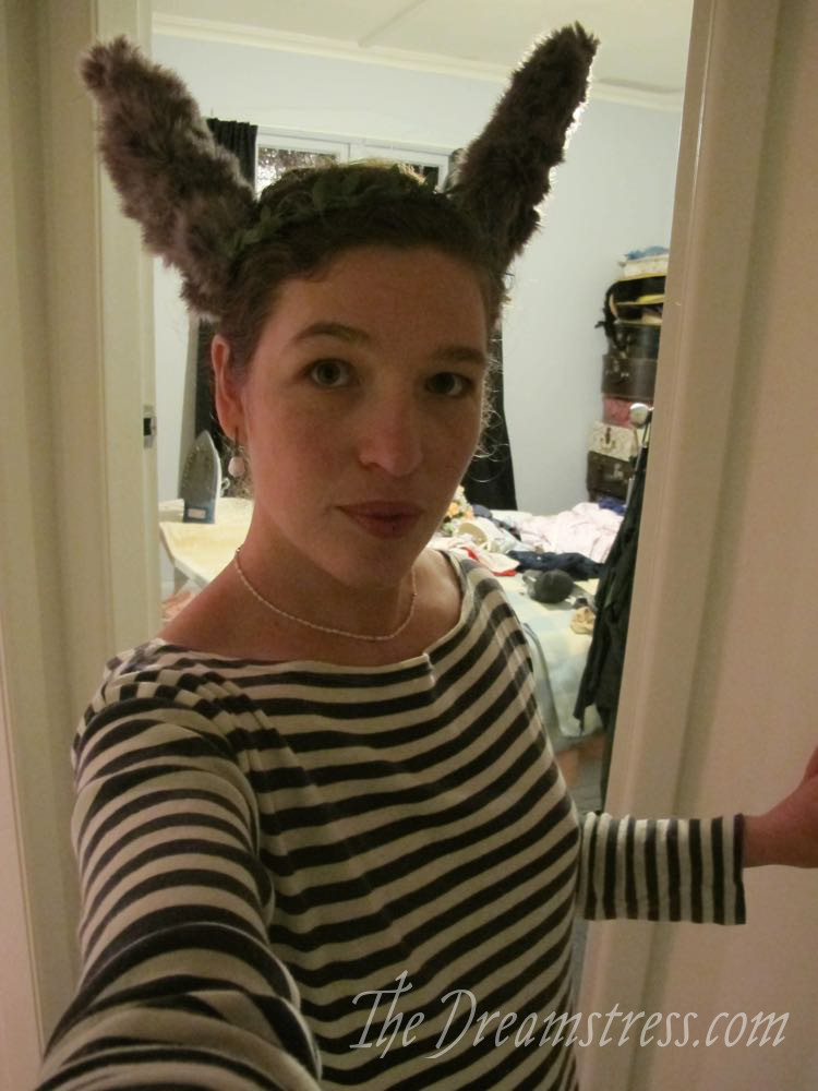 Making Bottom Donkey Ears for a Midsummer Nights Dream thedreamstress.com