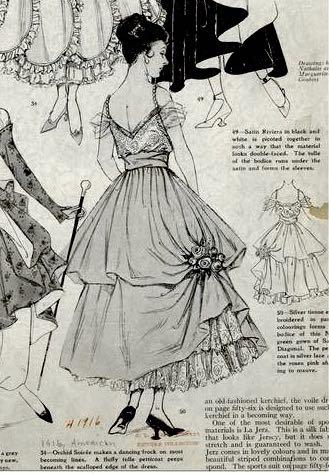1916, 1910s, 1916 petticoat