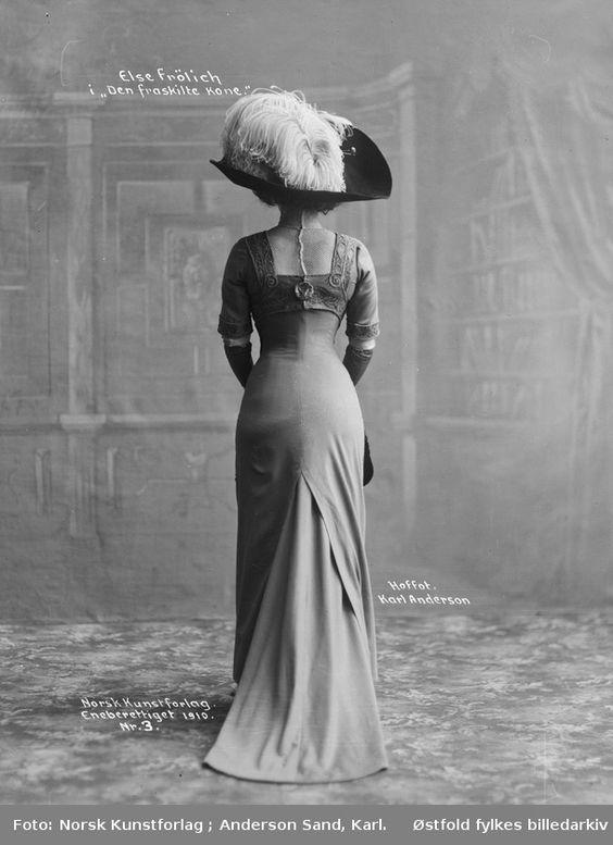 Actress Else Frölich, 1910, via DigitalMuseum.no