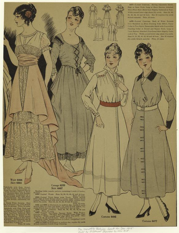 December 1915 styles