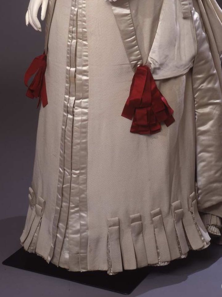Reception gown, 1884, silk faille, satin & organza, 00000055, Galleria del Costume di Palazzo Pitti via Europeana Fashion