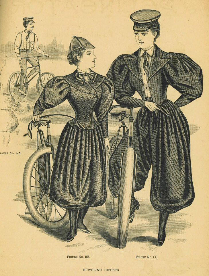 Victorian Womens Bicycle Fashion