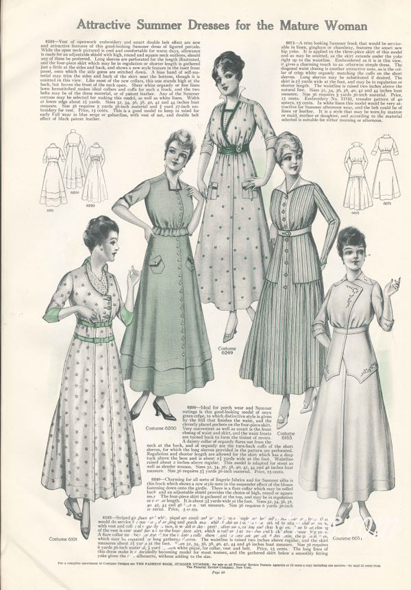 Dress styles, Pictoral Review June 1915, authors collection