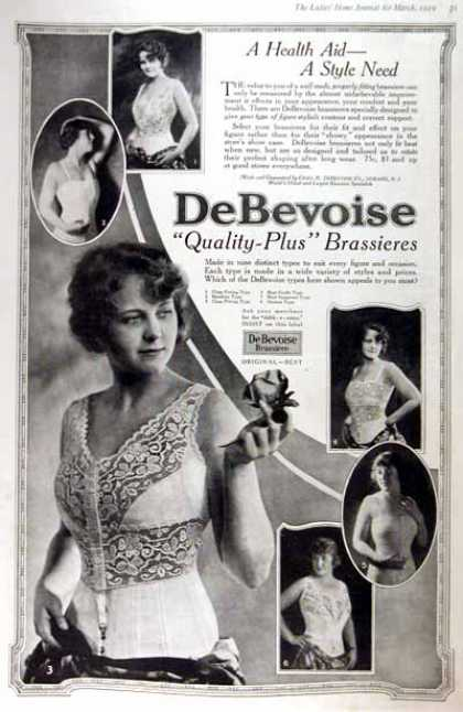 DeBevoise Brassieres (1919)