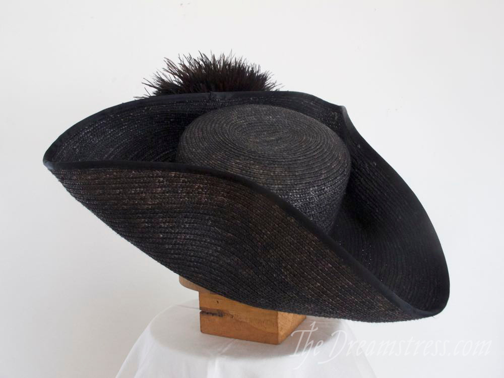 1910s Tricorne Revival Hat thedreamstress.com
