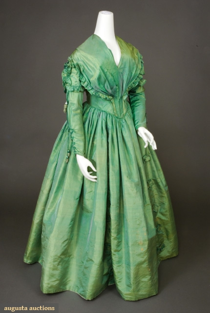Rate The Dress Vivid Green 1840s The Dreamstress