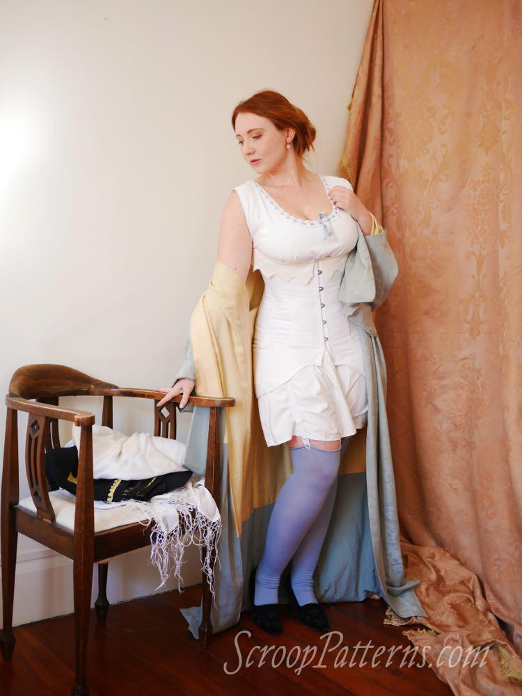 WWI era corset, Rilla Corset, 1910s Corset, Corset pattern