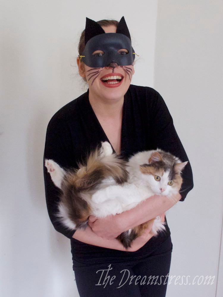 The Scroop Miramar as a Catwoman costume thedreamstress.com
