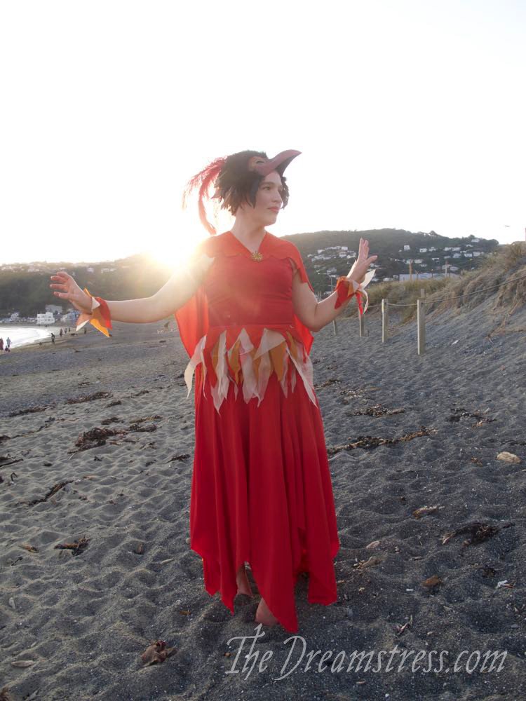 Halloween costume, Fawkes the Phoenix Costume, Harry Potter Hogwarts Costume thedreamstress.com