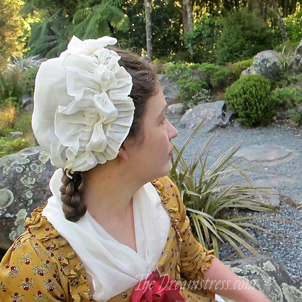 1780s American Duchess cap review thedreamstress.com