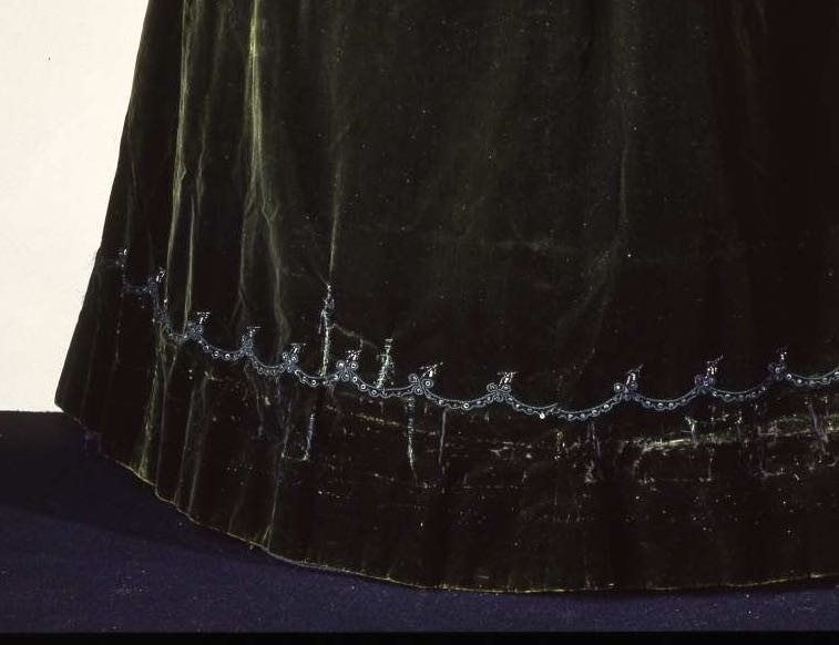 Edwardian Afternoon dress, ca 1900, Grands Magasins Nouveautés C. Paventa, Roma, Italian, silk velvet, satin & taffeta with sequins & marcasite, Galleria del Costume di Palazzo Pitti, 00000327 via EuropeanaFashion.eu