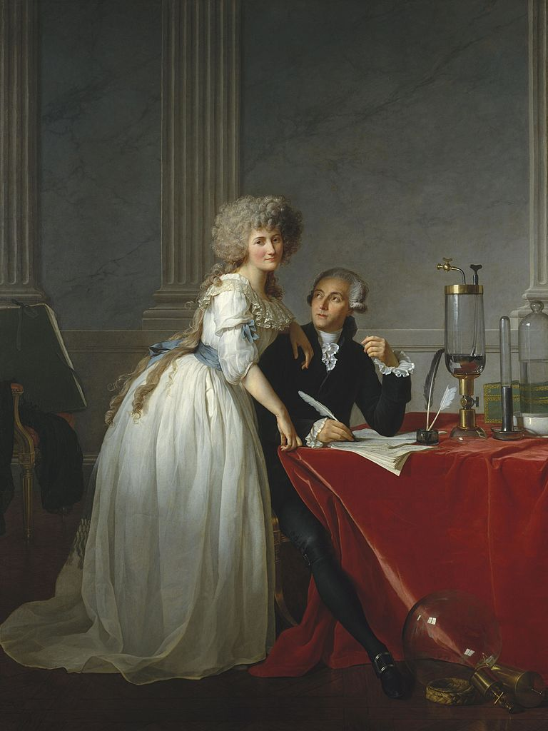 Jacques-Louis David, Portrait of Monsieur de Lavoisier and his Wife, chemist Marie-Anne Pierrette Paulze, 1788, Metropolitan Museum of Art