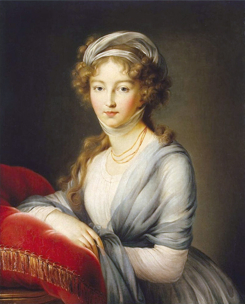 Louise Élisabeth Vigée Le Brun (1755–1842), Portrait of Empress Elisabeth Alexeievna of Russia, 1795, Castle of Wolfsgarten
