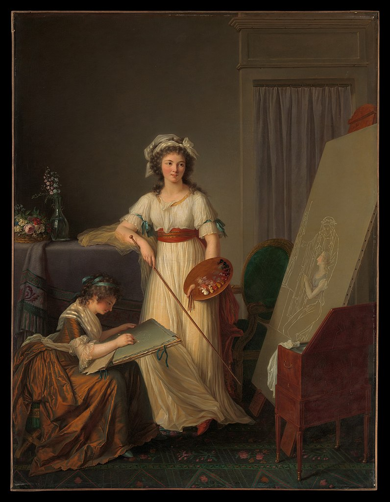 Marie-Victoire Lemoine. Atelier of a Painter, Probably Madame Vigée Le Brun (1755–1842), and Her Pupil, The Metropolitan Museum of Art