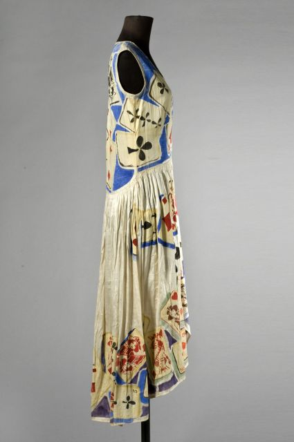 Silk dress said to have been hand-painted by Paul Poiret, ca. 1925, sold by artcurial in