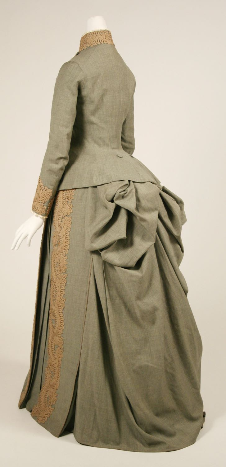 Wedding ensemble worn by Louise Carnegie (nee Whitfield), Herman Rossberg (American, active 1880s), 1887, American, wool, C.I.68.53.5a–h