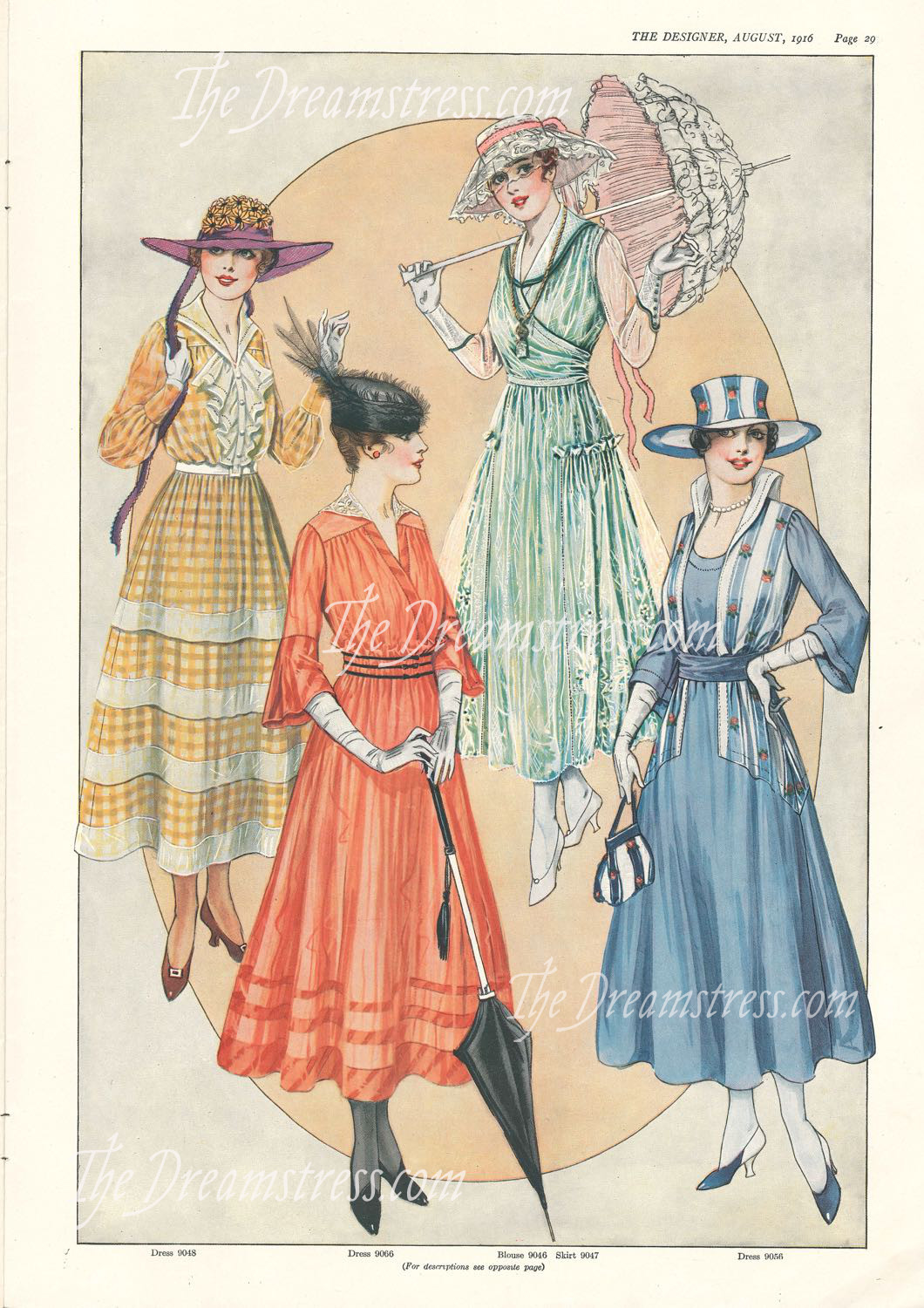 The Designer, August 1916 thedreamstress.com