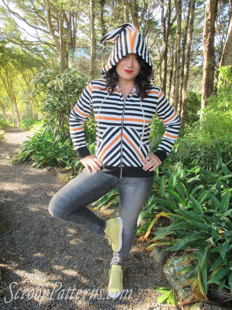 The Otari Hoodie by Scroop Patterns scrooppatterns.com