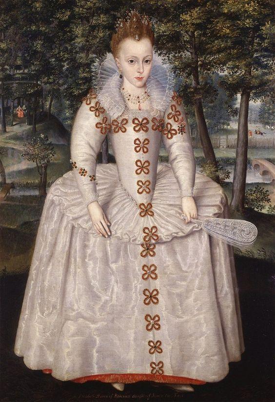 Elizabeth Stuart, Princess Royal (later, Queen of Bohemia), Robert Peake (1551-1626)