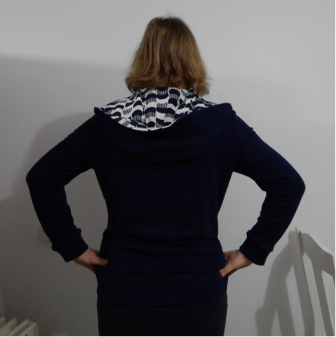 The Otari Hoodie by Scroop Patterns, by Claire P
