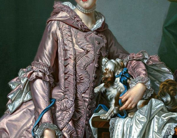 Portrait of a Girl Holding a Spaniel by Alexander Roslin, mid 18th century (Detail)