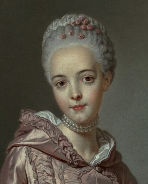 Portrait of a Girl Holding a Spaniel, Alexander Roslin, mid 18th century (Detail)