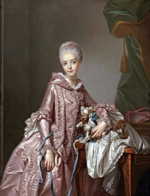 Portrait of a Girl Holding a Spaniel, Alexander Roslin, mid 18th century