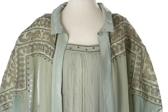 Woman's Dress and Coat Ensemble, silk with metal embroidery, ca. 1920s, Glenbow Collection, C-16492 A; C-16492 B