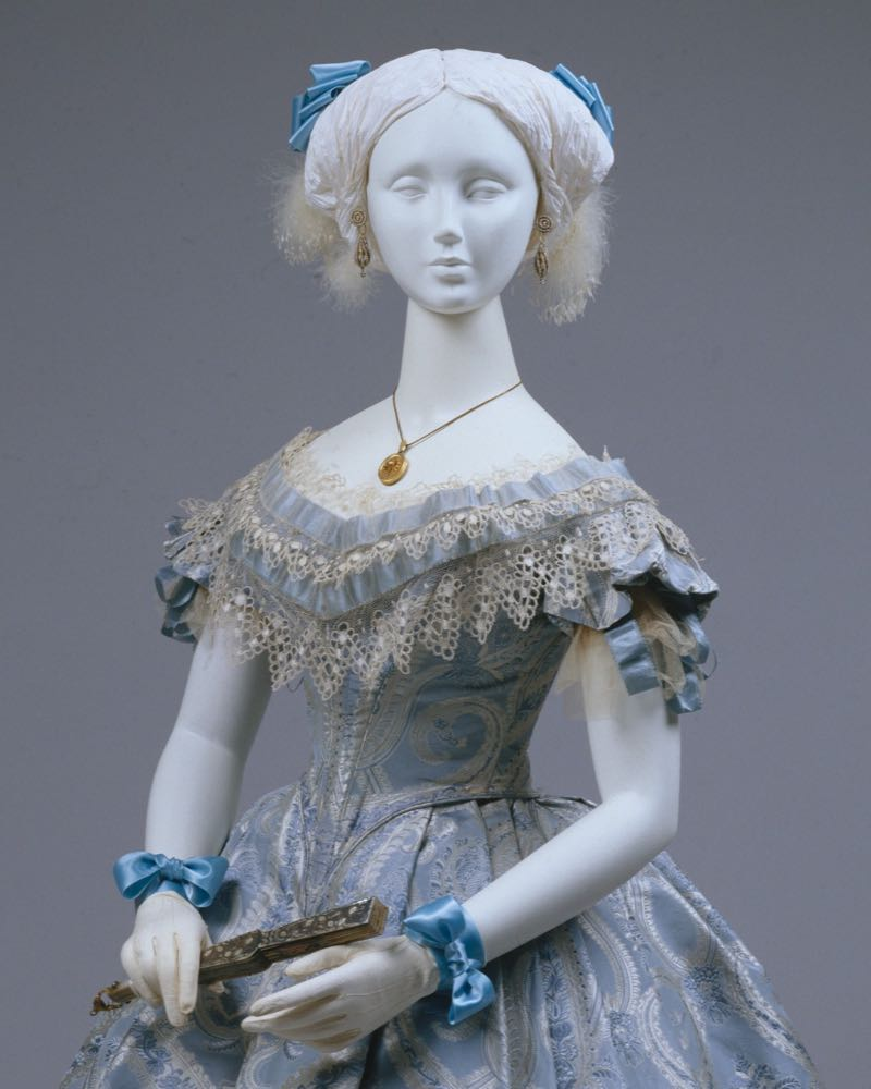 Ball gown, probably American, ca 1860, silk, cotton, Metropolitan Museum of Art, 1983.479.1a–c