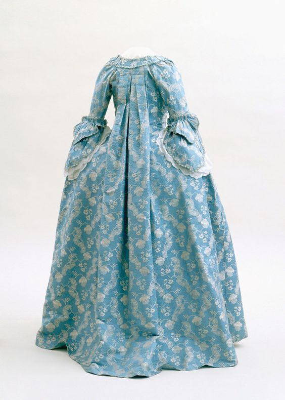 French or English dress, c. 1760, silk damask with silk supplementary weft. Emma Harter Sweester Fund. 81.290ab, Indianapolis Museum of Art
