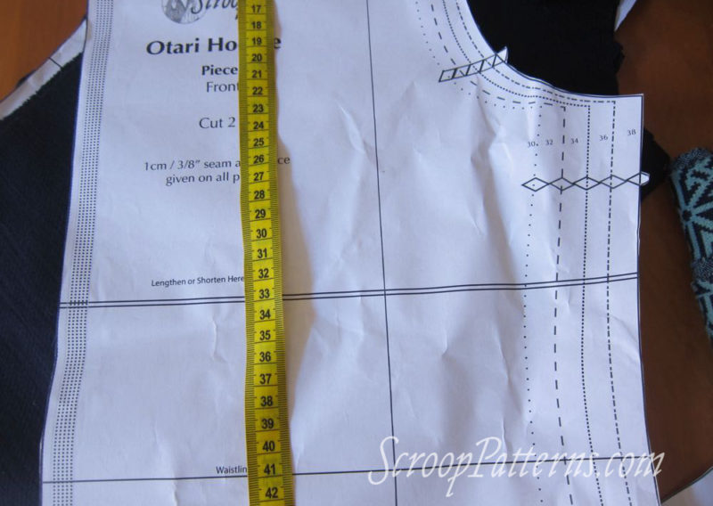 Otari Hoodie Sew Along - Alterations & cutting out scrooppatterns.com