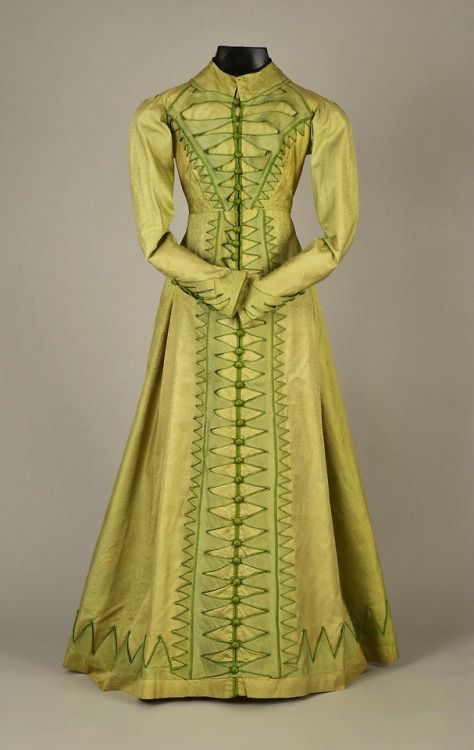 Pelisse, figured silk with velvet trim, 1815-20, Helen Larson Historic Costume Collection sold by Whitaker Auctions