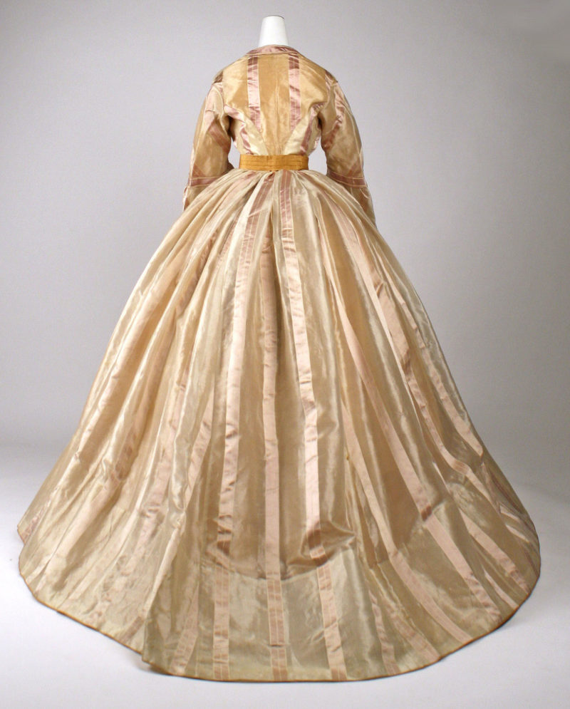 Dress, ca. 1865, Mme Marguerite, French, silk, Metropolitan Museum of Art, C.I.69.33.11a–f