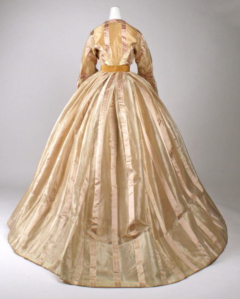 Dress, ca. 1865, Mme Marguerite, French, silk, Metropolitan Museum of Art, C.I.69.33.11a–f