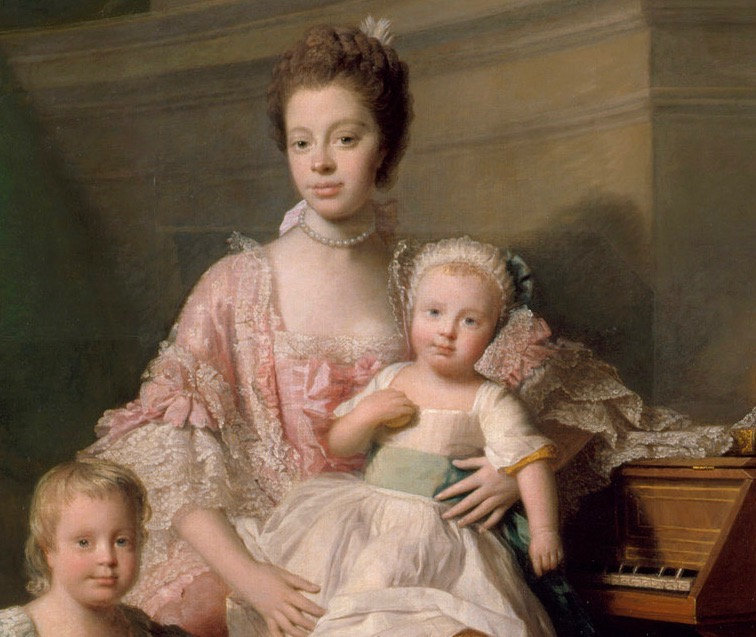 Allan Ramsay (1713–1784), Queen Charlotte (1744-1818) with her two eldest sons (detail), 1765, Windsor Castle