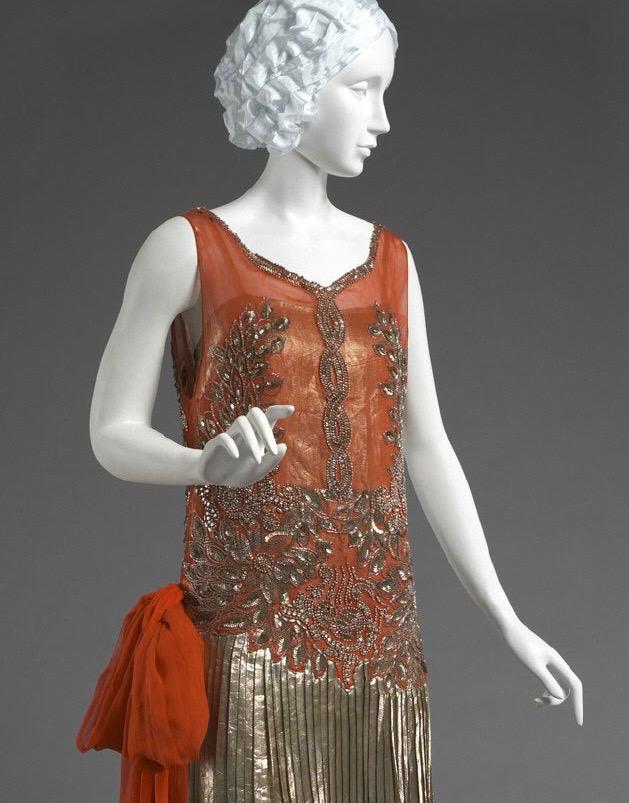 Evening Dress, Yteb, silk, sequins & metallic thread, 1926, The Philadelphia Museum of Art