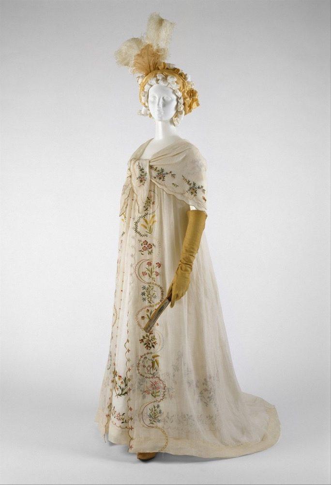 Ensemble, ca. 1798, probably, European, cotton, silk, Metropolitan Museum of Art 1992.119.1a–c