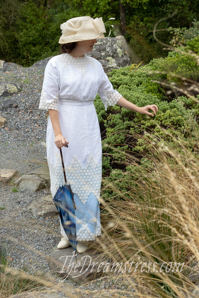 Theresa in the 1910-11 inspired Little Miss Muffet dress thedreamstress.com