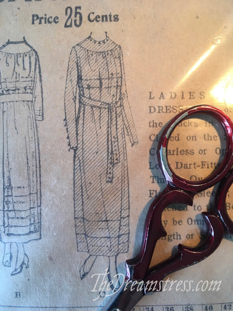 A dress made from an original 1919 pattern thedreamstress.com
