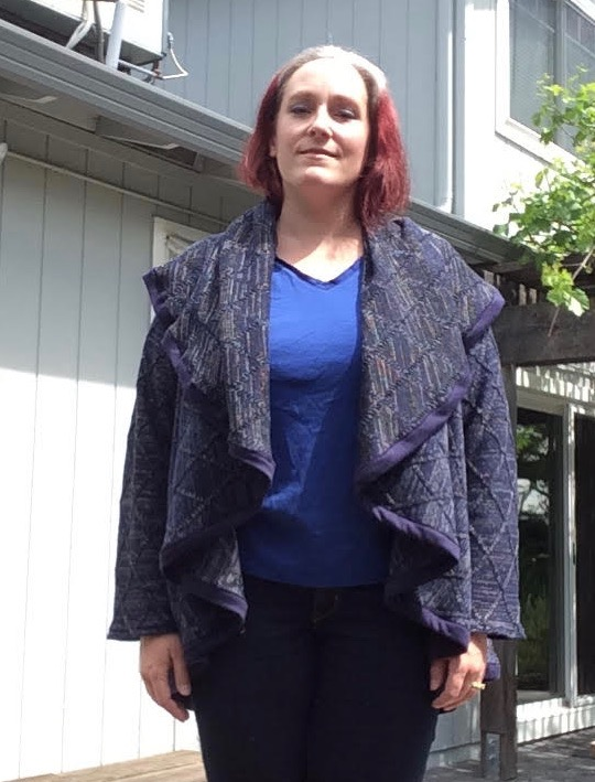 The Scroop Patterns Mahina Cardigan by Books 'n' Threads