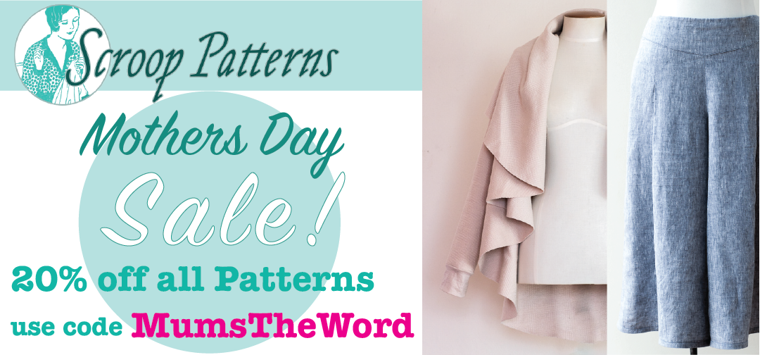 Scroop Patterns Mothers Day sale