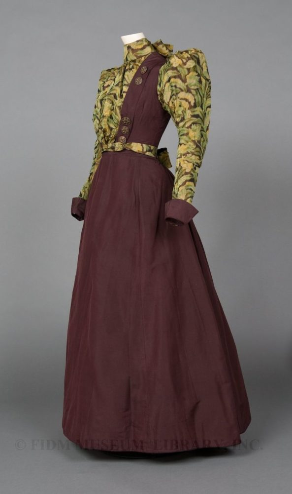Two-piece day ensemble, 1894-1895, silk taffeta, Gift of the Manlove Family, FIDM 2006.870.19AB