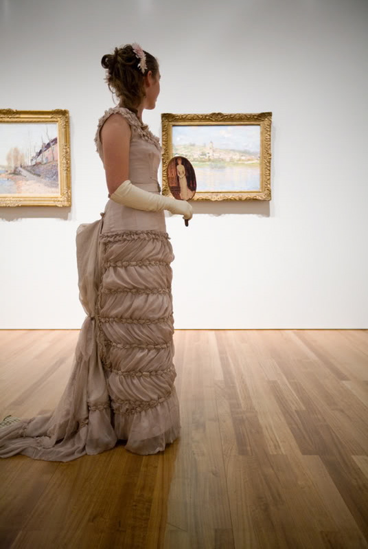 The Jeanne Samary Dress at the opening of Monet & the Impressionists at Te Papa