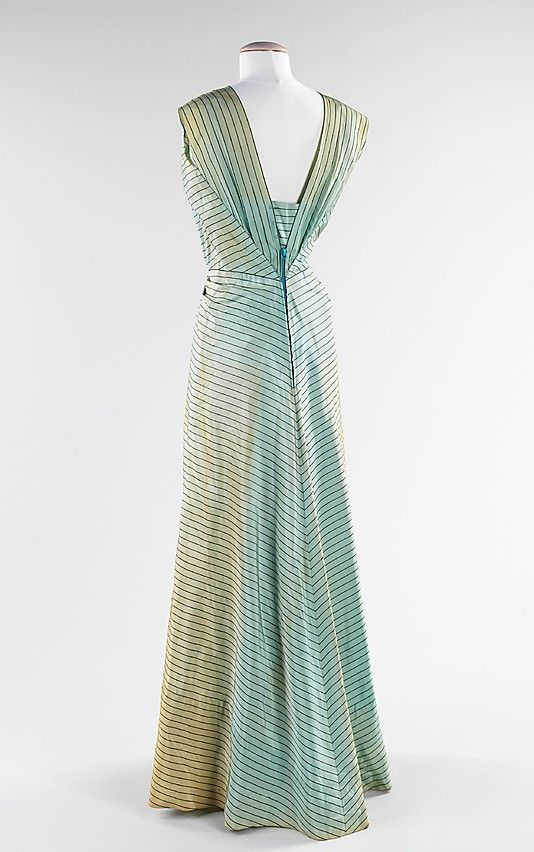 Evening ensemble, Elsa Schiaparelli, summer 1940; silk, metal, wool; French. The Metropolitan Museum of Art 2009.300.3165a,b. 2
